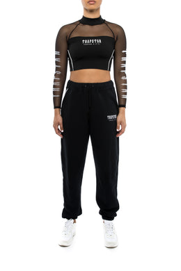 Women's Decoded Baggy Pants & Cropped Top - Black/White