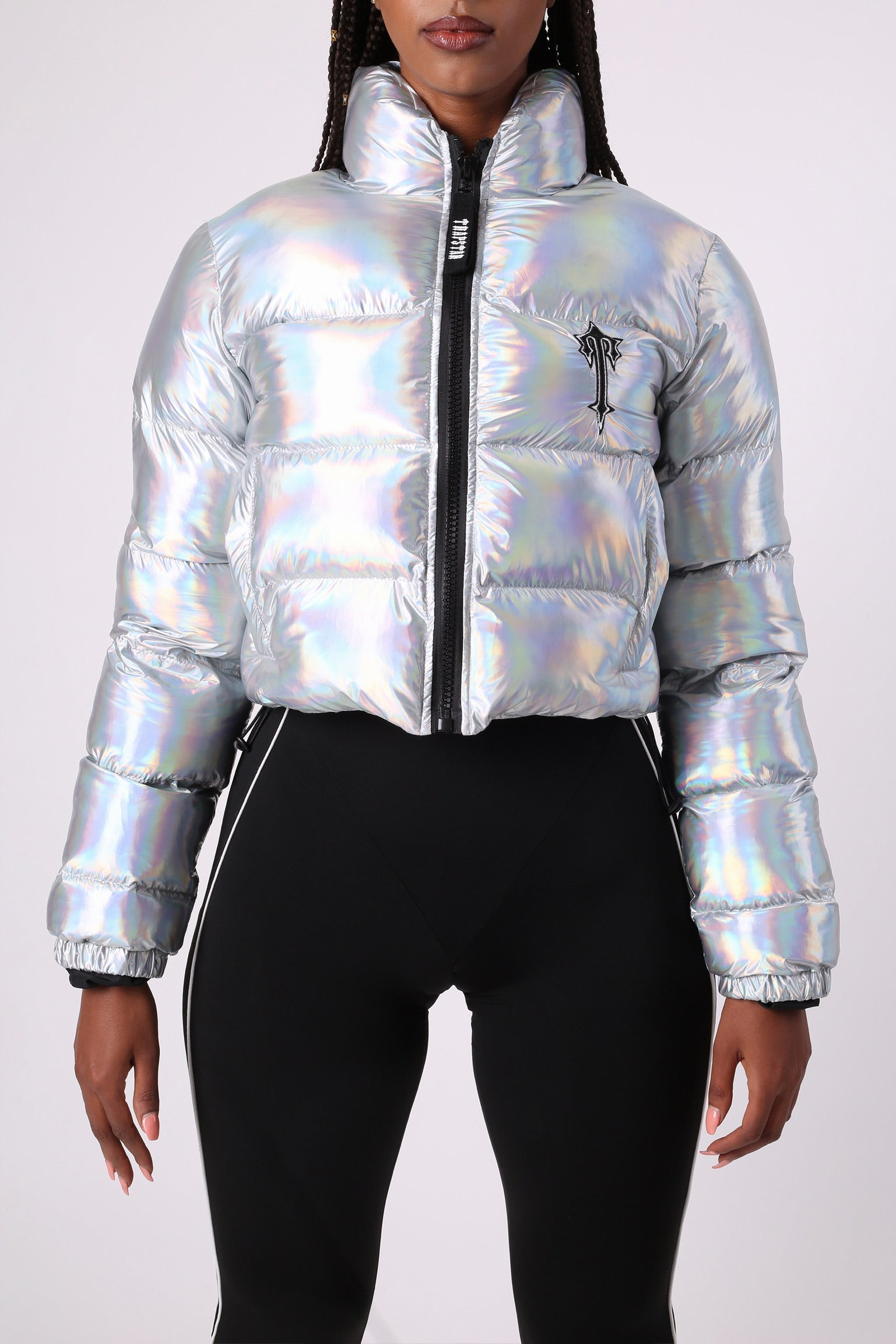 Womens Irongate Cropped Quilted Jacket - Iridescent
