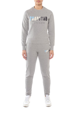 Women's Chenille Decoded Crewneck Tracksuit - Grey Ice Flavours Edition