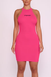 Ironblade Dress - Neon Pink