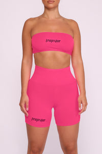 Womens Ironblade Bandeau & Shorts - Neon Pink