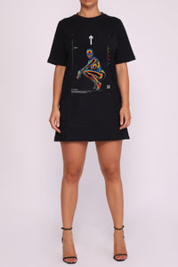 Womens Irongate Heatmap Oversized Tee - Black