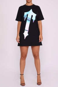 Womens Irongate T Teflon T-Shirt Dress - Black