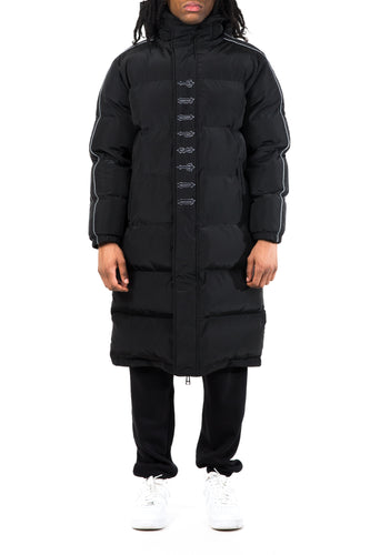 *PRE ORDER* AW20 Irongate Hooded Reflective Stripe Quilted Jacket - Black