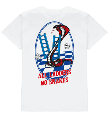All Ladders No Snakes Tee - White