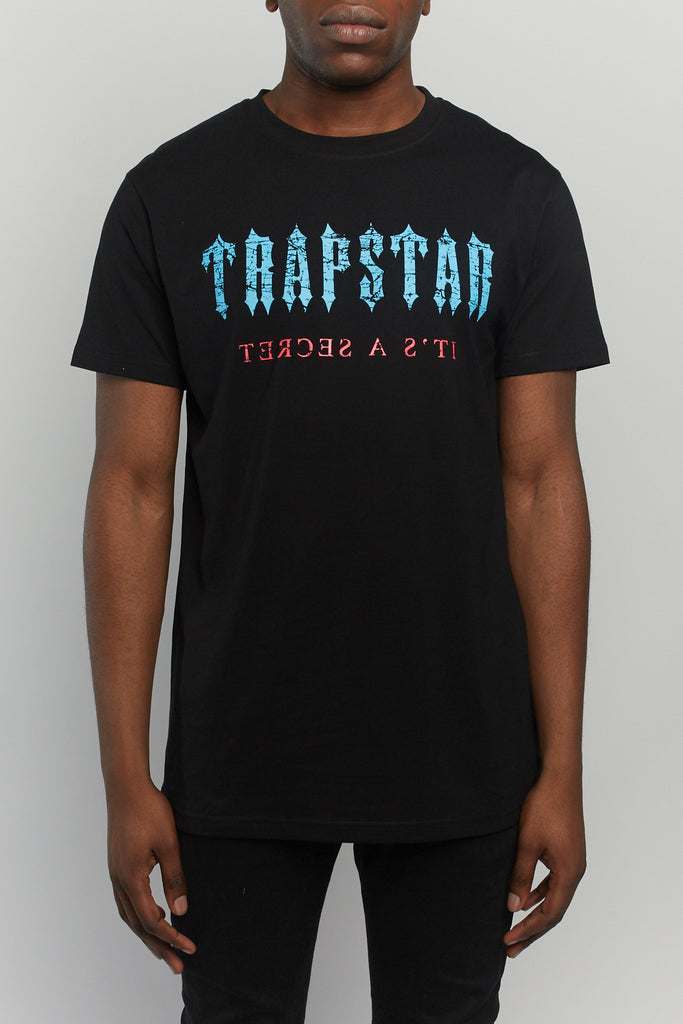 Cracked Decoded Tee - Black/Blue/Pink