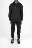 3D Embroidered Irongate T Contrast Panel Tracksuit - Black/Grey
