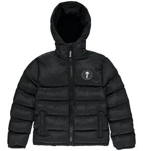 Mens Hooded Irongate Quilted Slim Fit Jacket - Black