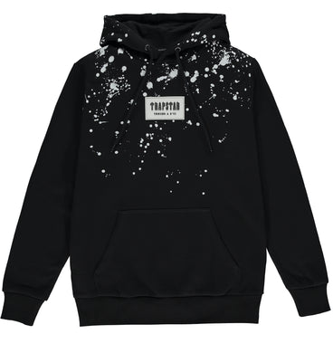 Speckled Patch Hoodie - Black/Grey