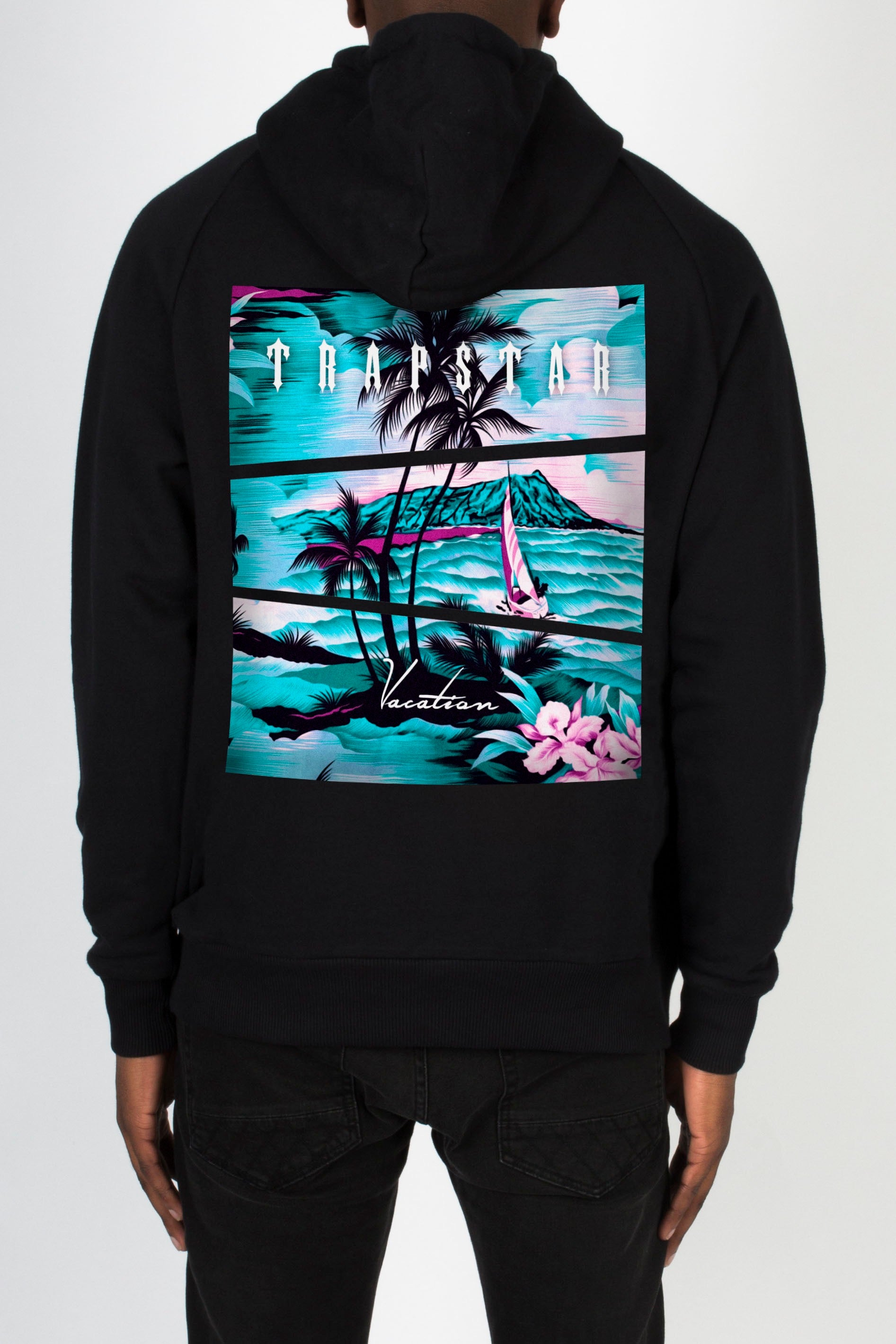 Trapstar Vacation Hoodie - Black