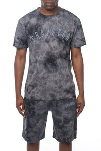 Irongate Chenille Short Set - Black/Tie Dye