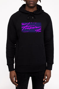 Signature Box Logo Hoodie - Black/Eclipse