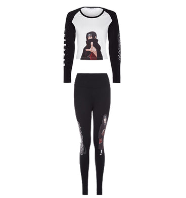 Trapstar x Naruto Itachi Women's Raglan Top & Leggings - Black