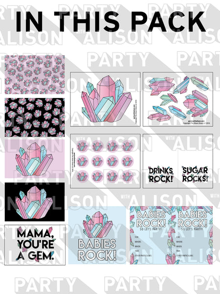 Babies Rock Baby Shower Party Pack - Digital Download