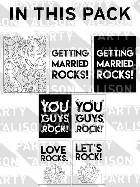 Love Rocks Bridal Shower Party Pack - Digital Download