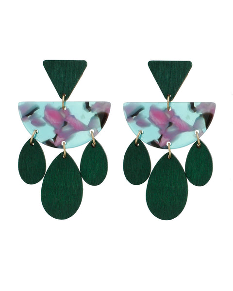 Emerald eleganza! earrings