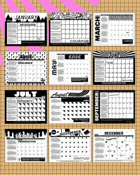 2021 Year of Awesome Calendar PDF - DIGITAL DOWNLOAD