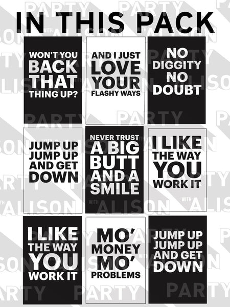 Hip Hop Hooray Lyric Art Print - Digital Download