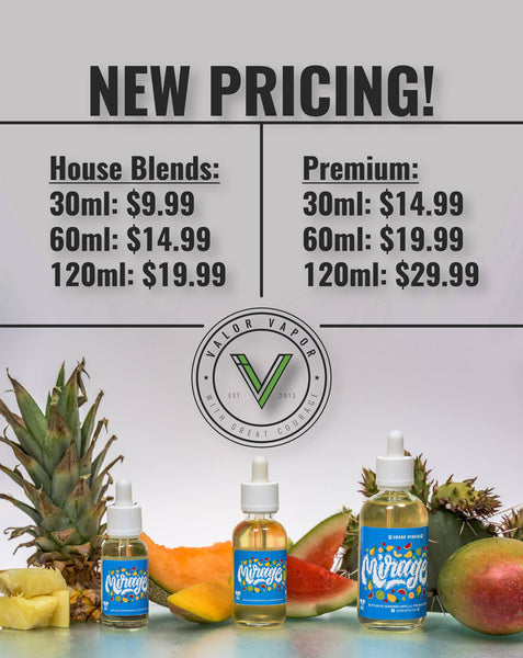 New Pricing with Valor Vapor!