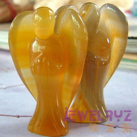 Agate Carved Angel-ToShay.org