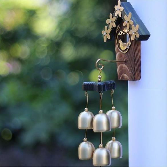 Bird House Wall Mounted Wind Chimes-ToShay.org
