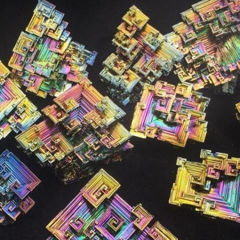 Bismuth Crystal Rainbow Cluster-Crystal Cluster-ToShay.org