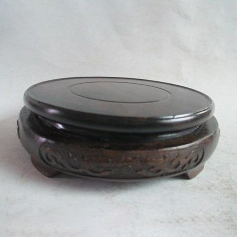 Black Cherry Wood Pedestal-ToShay.org