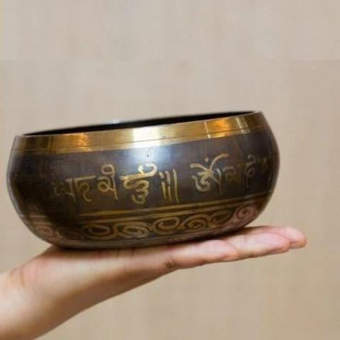 Buddha Carved Singing Bowl-ToShay.org