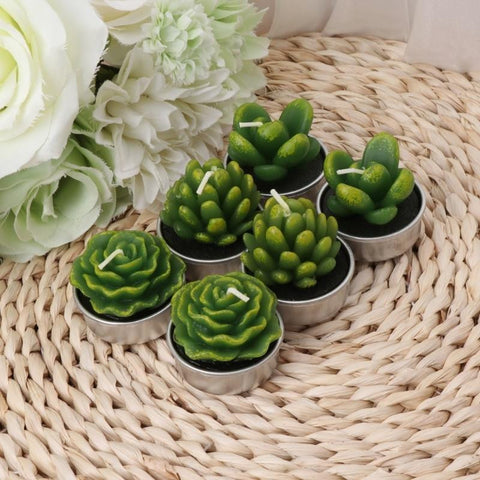 Cactus Tea Light Candles-ToShay.org