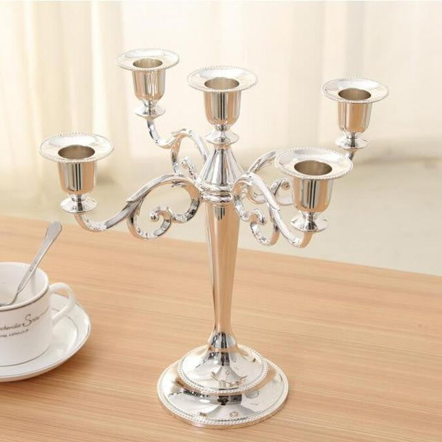 Candelabra 5 Arms Candle Holders-ToShay.org