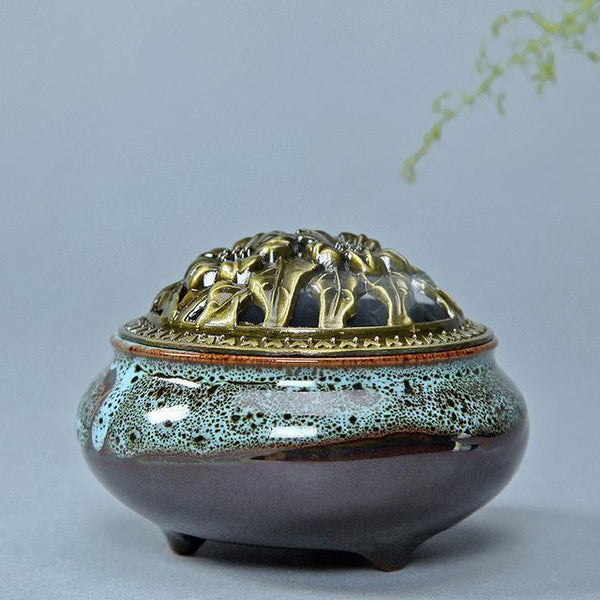 Ceramic Glaze Incense Burners-ToShay.org