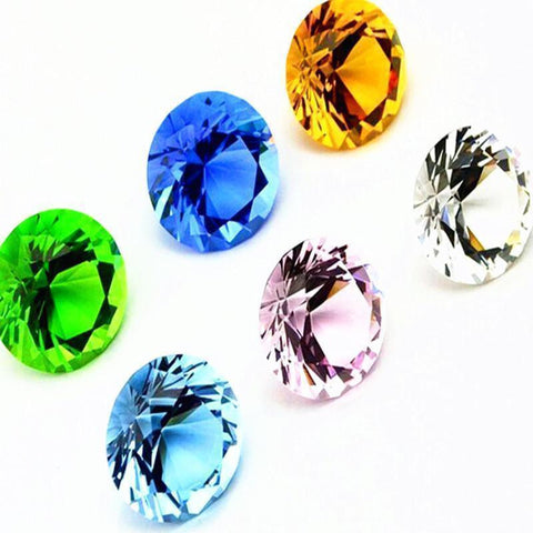 Coloured Crystal Diamond 30mm-ToShay.org