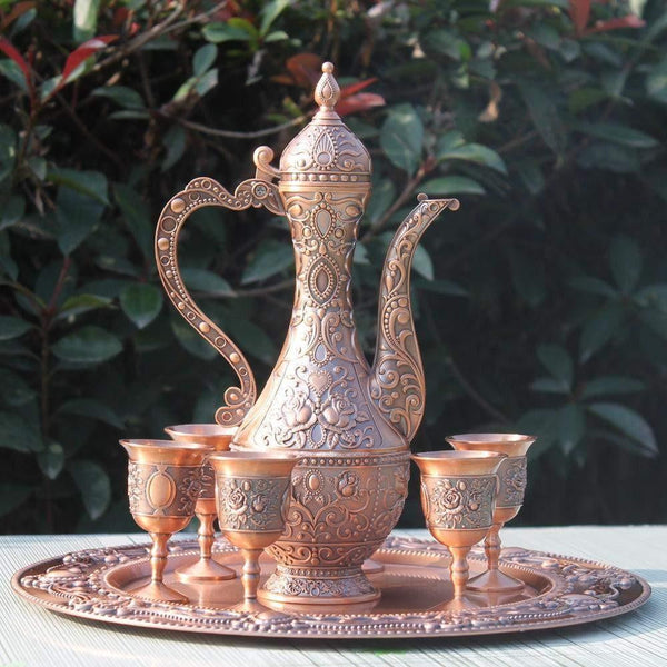 Copper Bronze Plated Tea Set-ToShay.org