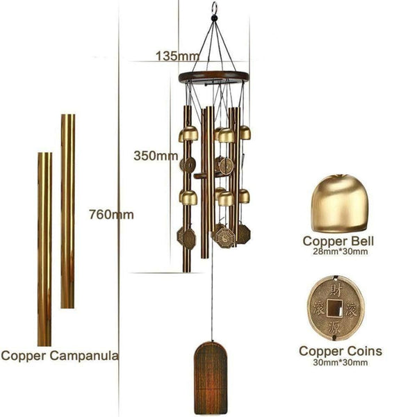 Copper Coins Wind Chimes-ToShay.org