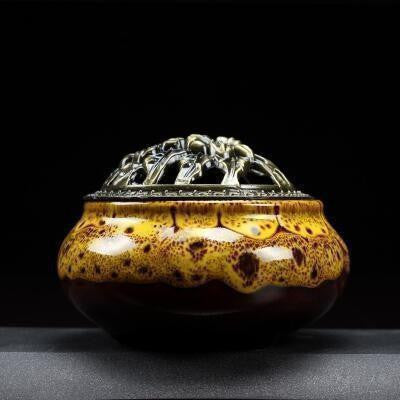 Cracked Glaze Incense Burner-ToShay.org
