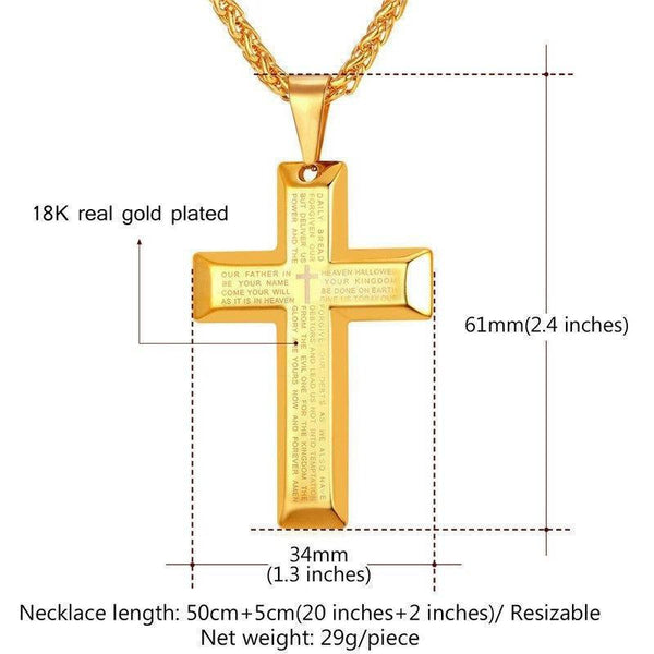 Steel Cross Necklace-ToShay.org