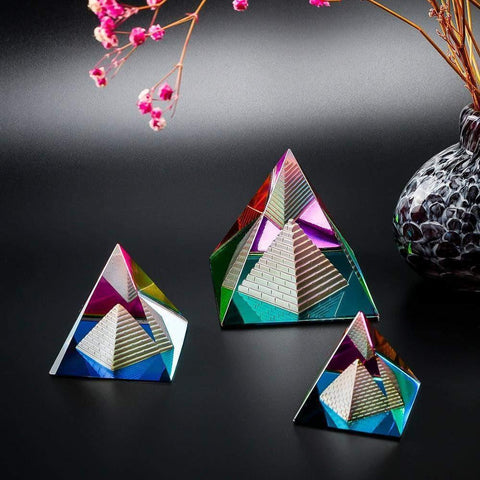 Crystal Coloured Pyramid-ToShay.org