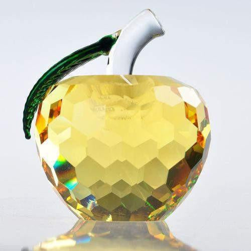 Crystal Glass Apples-ToShay.org