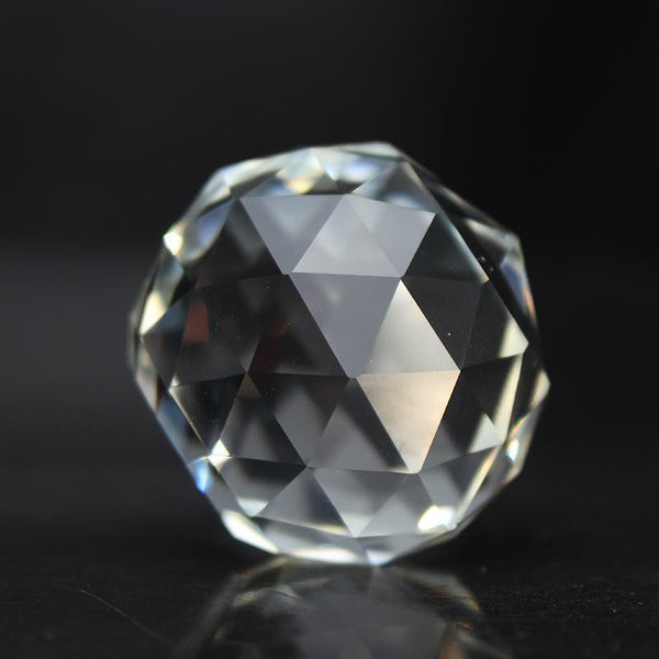 Crystal Glass Faceted Ball-ToShay.org