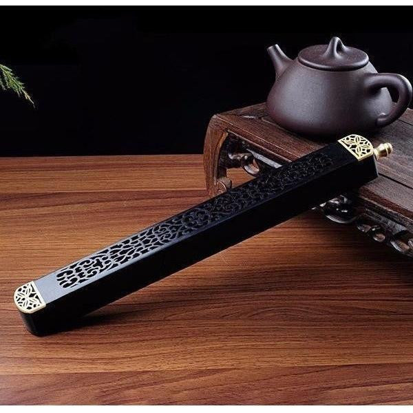 Ebony Wood Incense Box-ToShay.org