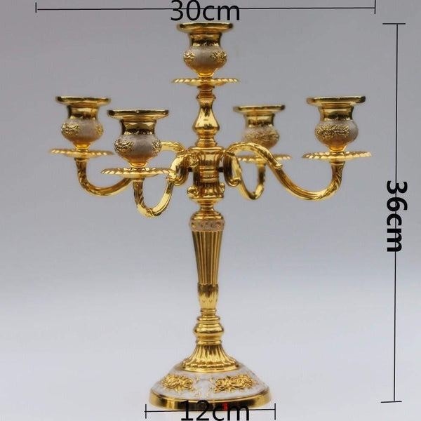 Gold 5 Arms Candelabra-ToShay.org