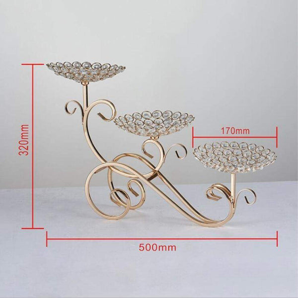 Gold Crystal Candle Stand-ToShay.org