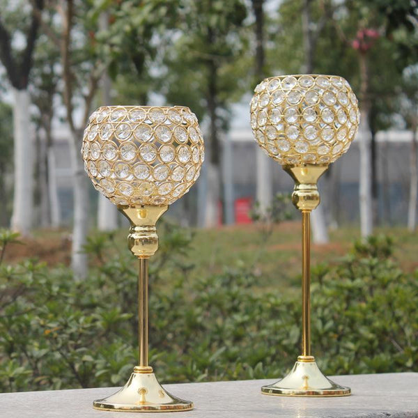 Gold Crystal Candlesticks-ToShay.org