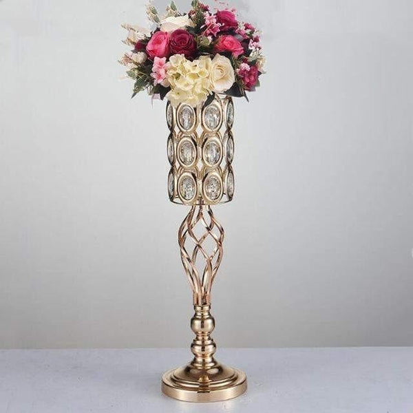 Gold Spiral Crystal Candle Holders-ToShay.org