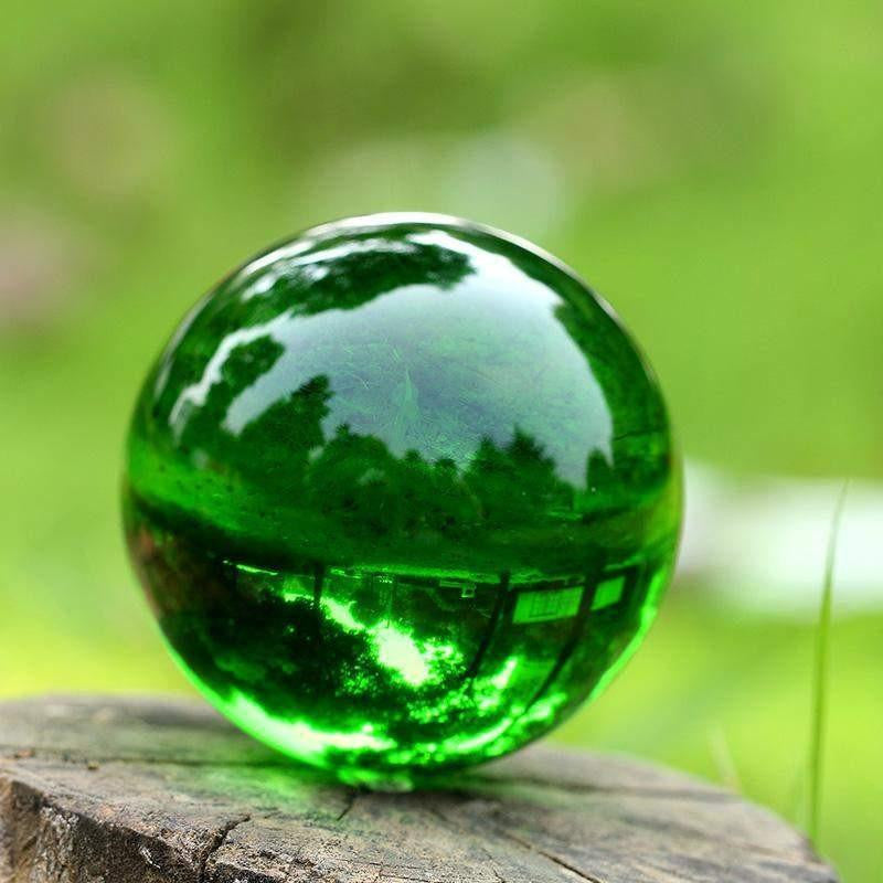 Green Crystal Glass Ball-ToShay.org