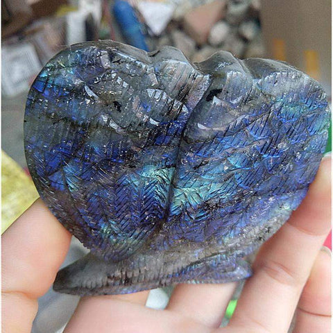 Blue Labradorite Wings-ToShay.org