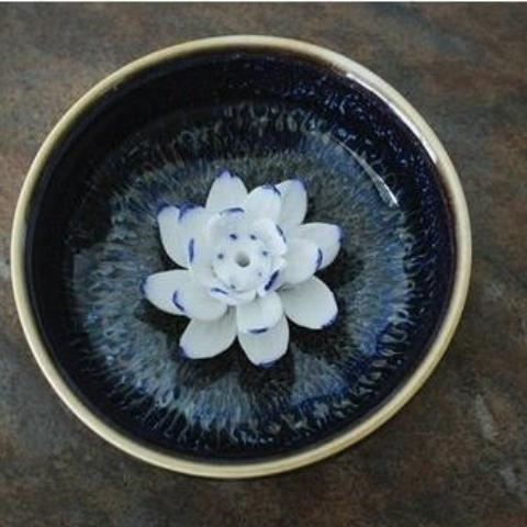Lotus Ceramic Incense Burner-ToShay.org