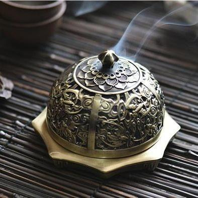 Lotus Craft Bronze Incense Burner-ToShay.org