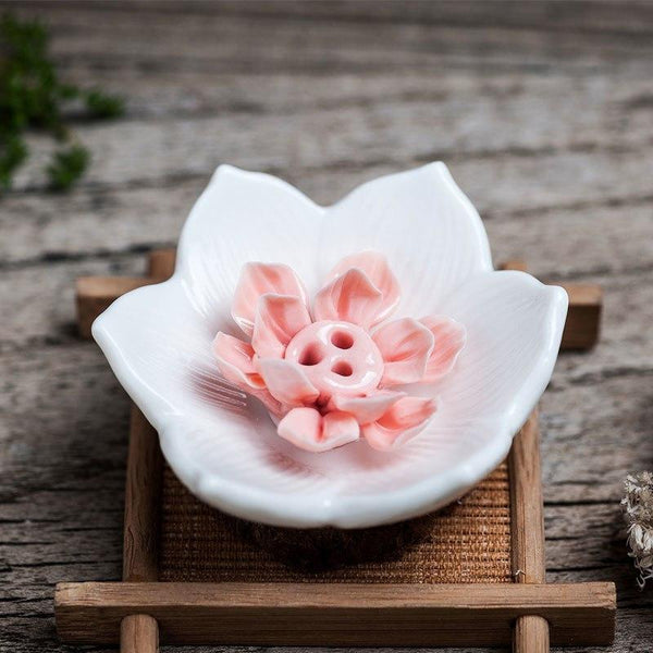 Lotus Flower Incense Stick Holder-Incense Sticks Holder-ToShay.org