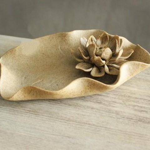 Lotus Wave Plate-Incense Sticks Holder-ToShay.org